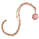 Pink Opal Basket-Weave Necklace by Stenmark