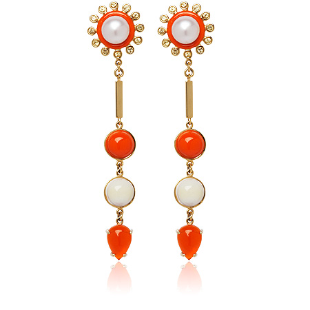Stenmark - Colourburst Fire Opal Earrings
