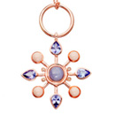 Lavender Jade and Tanzanite Colourburst Pendant by Stenmark