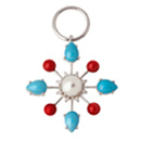 Pearl and Turquoise Colourburst Pendant by Stenmark
