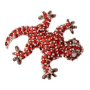 brooch - gecko mini