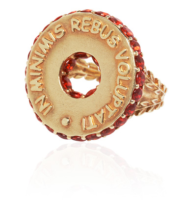 Stenmark • Latin Motto Disc Ring